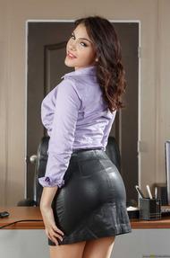 Busty Secretary Valentina Nappi Gets Naked - 01