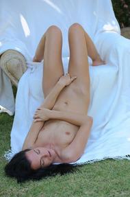 Hot Sapphira Fingering Her Pussy In The Garden - 17