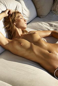 Amber In White Bikini