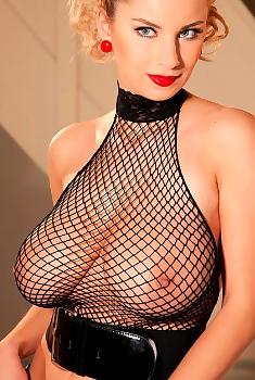 Katarina Dubrova Huge Tits And Fishnet