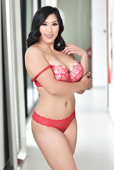 Asian Babe In Red Lingerie