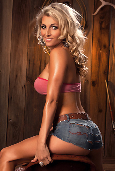 Alicia Secrets Hot Blonde Cowgirl