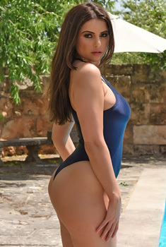 Charley Posing In Blue Swimsuit