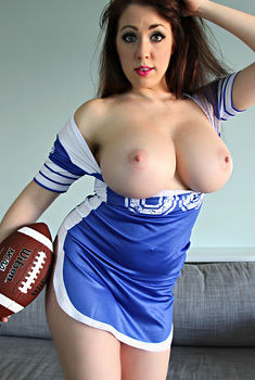 Busty Cheerleader Kayla