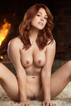 Flaming Redhead Model Molly Stewart