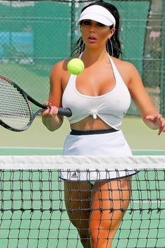 Busty Grace J Teal Tennis Player